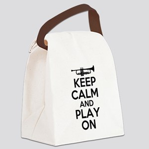 Keep Calm and Play On Trumpet Canvas Lunch Bag
