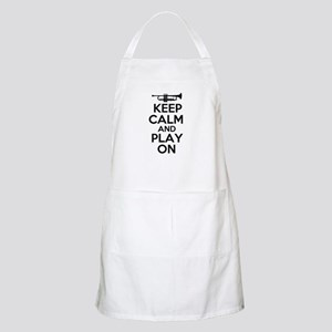 Keep Calm and Play On Trumpet Apron