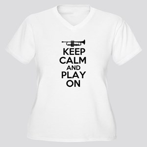 Keep Calm and Play On Trumpet Plus Size T-Shirt