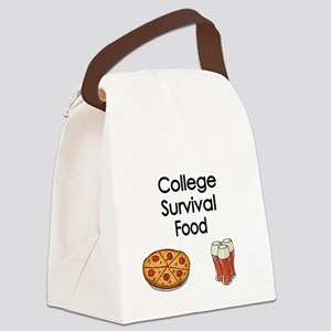 College Survival Food Canvas Lunch Bag