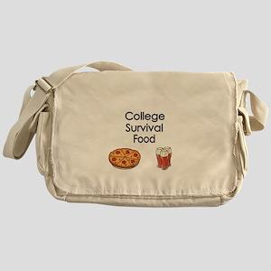 College Survival Food Messenger Bag