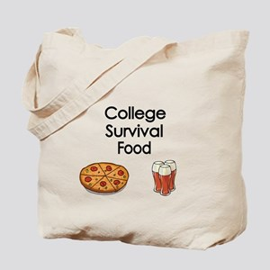 College Survival Food Tote Bag