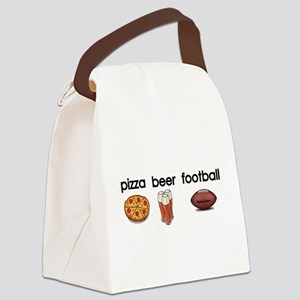 Pizza,Beer,Football Canvas Lunch Bag