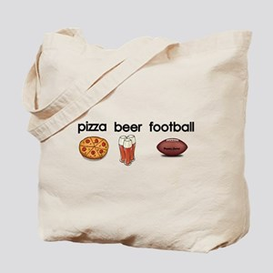 Pizza,Beer,Football Tote Bag