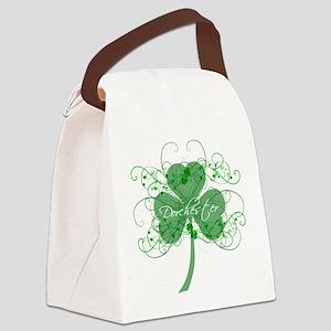 Dot Shamrocks Canvas Lunch Bag