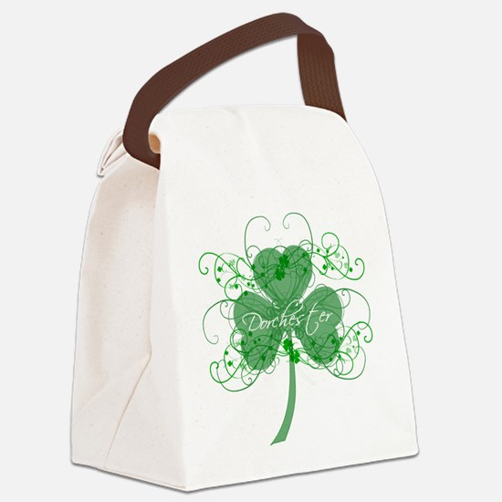 Dot Shamrocks Canvas Lunch Bag