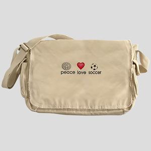 Peace,love,soccer Messenger Bag