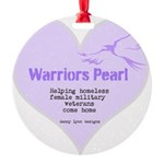 Warriors Pearl Round Ornament
