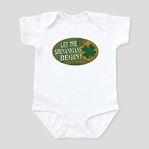 Shenanigans Orange Green Infant Bodysuit