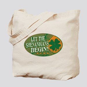 Shenanigans Orange Green Tote Bag