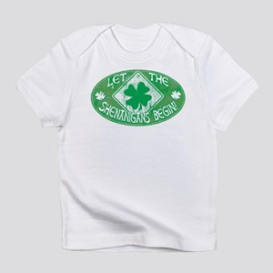 Shenanigans Begin Green Infant T-Shirt