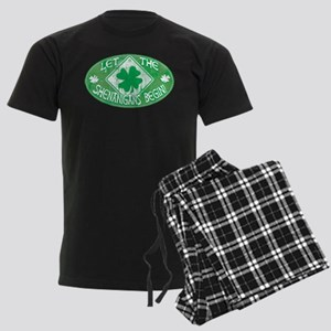 Shenanigans Begin Green Men's Dark Pajamas