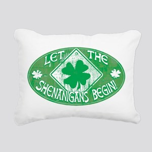 Shenanigans Begin Green Rectangular Canvas Pillow