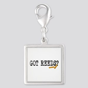 Got Reeds? Silver Square Charm