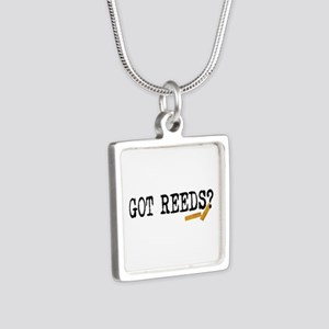 Got Reeds? Silver Square Necklace