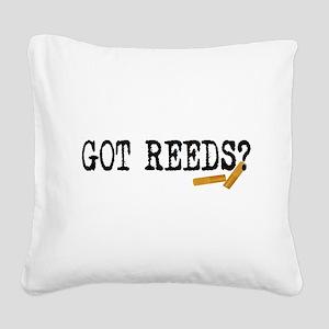 Got Reeds? Square Canvas Pillow
