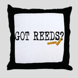 Got Reeds? Throw Pillow