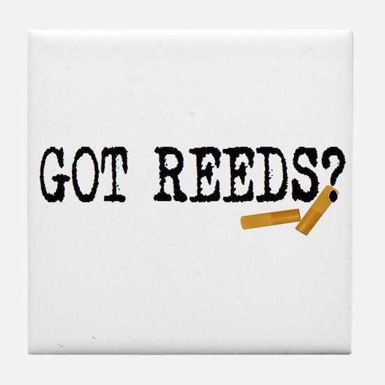 Got Reeds? Tile Coaster
