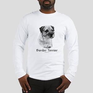Border Terrier Charcoal Long Sleeve T-Shirt