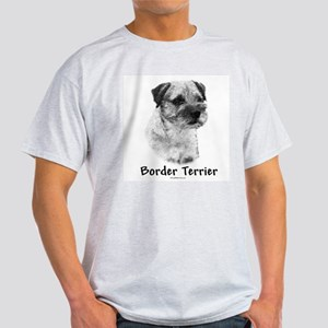 Border Terrier Charcoal Ash Grey T-Shirt