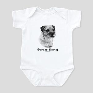 Border Terrier Charcoal Infant Bodysuit