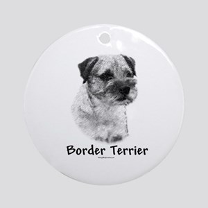 Border Terrier Charcoal Ornament (Round)