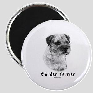 Border Terrier Charcoal Magnet