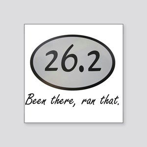 """Been There 26.2 Square Sticker 3"""" x 3"""""""