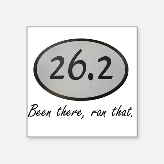 "Been There 26.2 Square Sticker 3"" x 3"""