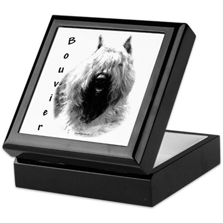 Bouvier Charcoal Keepsake Box