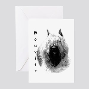 Bouvier Charcoal Greeting Cards (Pk of 10)