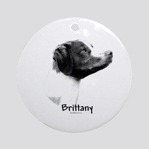 Brittany Charcoal Ornament (Round)