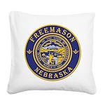 Nebraska Masons Square Canvas Pillow