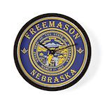 Nebraska Masons Wall Clock