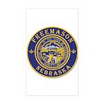 Nebraska Masons Sticker (Rectangle)