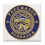 Nebraska Masons Tile Coaster