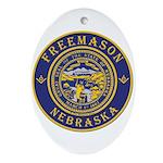 Nebraska Masons Ornament (Oval)