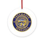 Nebraska Masons Ornament (Round)