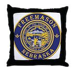 Nebraska Masons Throw Pillow