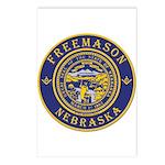 Nebraska Masons Postcards (Package of 8)