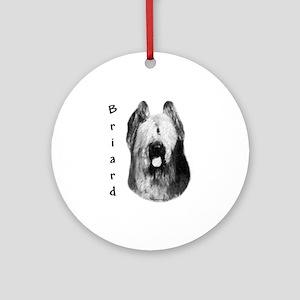 Briard Charcoal Ornament (Round)