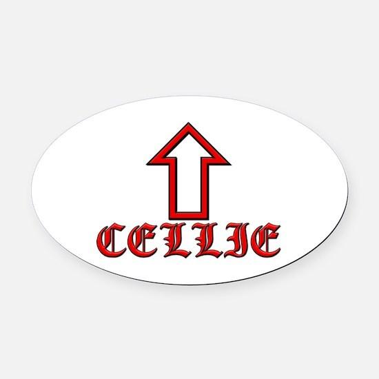 Cellie Oval Car Magnet
