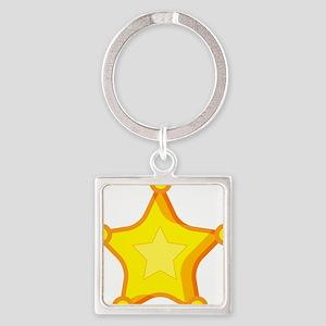 Star Badge Square Keychain