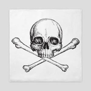 Skull and Bones Queen Duvet