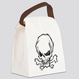 Skull and Bones Canvas Lunch Bag