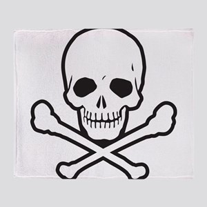 Skull and Bones Throw Blanket