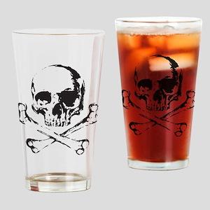 Skull and Bones Drinking Glass