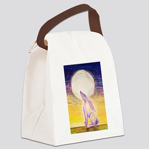 Moon Gazing Hare Canvas Lunch Bag