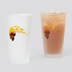 Skull on Fire Drinking Glass