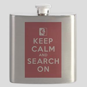 Keep Calm and Search On (High Angle Teams) Flask